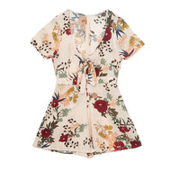 Floral printed jumpsuit - Dungarees & Jumpsuits - Clothing - Woman - PULL&BEAR United Kingdom