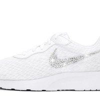 Girls' Nike Tanjun + Crystals - White - Big Kids' (3.5y-7y)