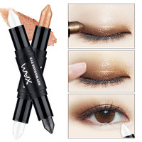 2017 New Fashion Brand Eyes Shadow Color Glitter Makeup Waterproof Metallic White Gold Glitter Eyeshadow Color Pencil