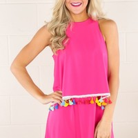 JUDITH MARCH: Miles From Nowhere Dress-Fuchsia