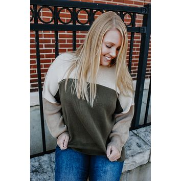Take It To Heart Sweater - Olive