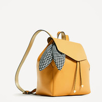 BACKPACK WITH SCARFDETAILS