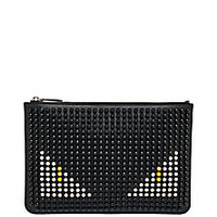 Fendi - Monster Studded Leather Pouch - Saks Fifth Avenue Mobile