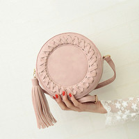 Round Women Tassel Bag