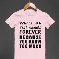 best friends forever - Totes Adorbs Tees - Skreened T-shirts, Organic Shirts, Hoodies, Kids Tees, Baby One-Pieces and Tote Bags
