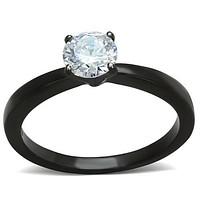 SALE  A Perfect 1CT Round Cut Solitaire Russian Lab Diamond Black Tungsten Engagement Ring