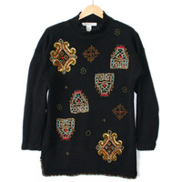 Vintage 90s Slouch Tacky Ugly Gem Sweater