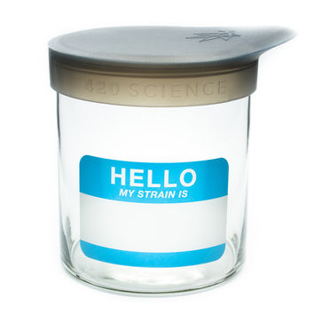 Medium Wide-Mouth Glass Jar by 420 Science - 5 inches