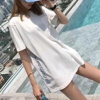 """""""Chrome Hearts"""" Women Casual Fashion Personality Letter Short Sleeve T-shirt Top Tee"""
