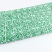 Vintage Fabric Green Polyester Knit Fabric Green Checkered Fabric Square Fabric Mod Knit Fabric Spring Fabric Polyester
