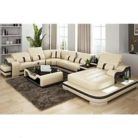 Leisure Style Luxury Leather Sectional Sofa