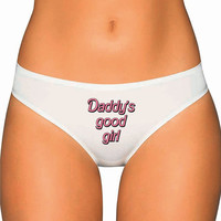 Daddy Underwear- Bubble Text Writing - tumblr daddy's little girl - Custom Underwear Panties Thongs Undies Lingerie