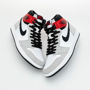 Nike Air Jordan 1 AJ1 Retro Light Smoke Grey Basketball Shoes Sneakers Shoes