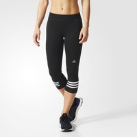 adidas Response Three-Quarter Tights - Black | adidas US