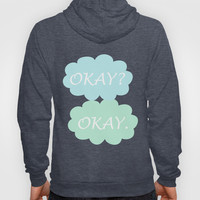 Okay Okay - Cancer Awareness Pink with Mint Green Turquoise Blue Hoody by BeautifulHomes | Society6