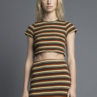 Marsha Striped Knit Mini