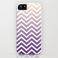 chevron gradient - purple iPhone Case by Leigh / losinghimwasblue | Society6
