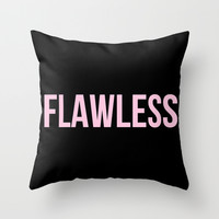 Flawless - Woke Up Like This B yonce Queen B Throw Pillow by Rachel Additon