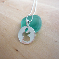 Bunny Rabbit Necklace - 925 Sterling Silver