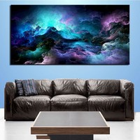 Art Oil Painting Large size Abstract Blue picture no frame