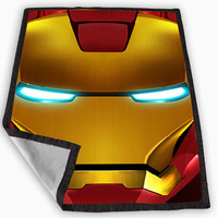 Iron Man helmet Blanket for Kids Blanket, Fleece Blanket Cute and Awesome Blanket for your bedding, Blanket fleece *