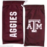 Texas A&M Aggies All In One Microfiber Eyewear Storage Bag / Cleaning Cloth