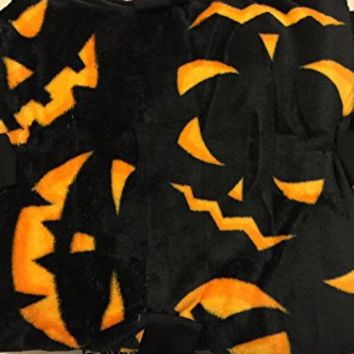 "Happy Halloween Posh 50"" x 60"" Plush Throw Blanket, Jack-O-Lantern"