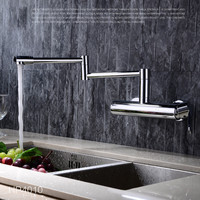 Chrome Folding Kitchen Faucet