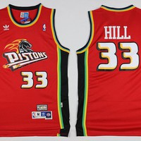 Best Deal Online Mitchell & Ness Hardwood Classics NBA Basketball Jerseys Detroit Pistons #33 Grant Hill Red