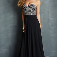 Beaded Strapless Prom Dress by Night Moves