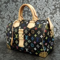 Rise-on LOUIS VUITTON MONOGRAM Multicolor Black Speedy 30 Handbag #18