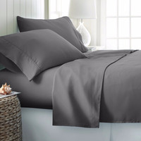Luxury Comfort Bed Sheet Set Deep Pocket 4 Piece Extra Soft Hotel Quality King