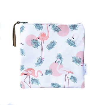 Bikini Bag Peach Flamingo
