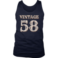 Men's Vintage 58 Tank Top 60th Birthday Gift for 60 Year Old