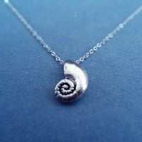The Little Mermaid, Ariels Voice Shell, Sterling Silver chain necklace