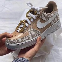 Dior NIKE Air force one Fashion casual shoes-1