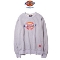 """""""Dickies"""" Fashion long sleeve sweater thick Grey"""