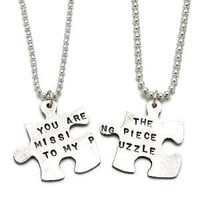 MISSING PIECE PUZZLE NECKLACE   Unique, Symbolic, Matching Silver Puzzle Necklaces for You and the One Who Completes You, Handmade by Kathy Bransfield   UncommonGoods
