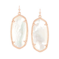 Elle Ivory Drop Earrings in Rose Gold | Kendra Scott Jewelry