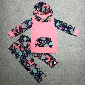 FALL OUTFITS persnickety girls 2 pieces sets girls baby girls unicorn clothing children boutique hoodie unicorn hoodie clothing