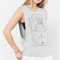 Truly Madly Deeply Mystical Chart Muscle Tee- Grey