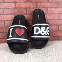 D&G Alphabet slippers