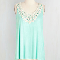 Pastel Mid-length Sleeveless I Want to Tank You Top by ModCloth