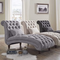 Tufted Oversized Chaise Lounge