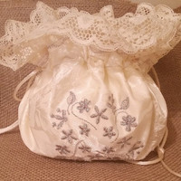 Satin Bag ~Bride Bags ~Gifts for her ~Jewelry Bag~Travel bag~ Unique Gift~Christmas Stocking~