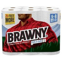 Brawny® White Paper Towels 104 Sheets - 6 Rolls : Target