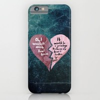 Society6 - Broken Heart-the Fault In Our Stars iPhone 6 Case by Anthony Londer