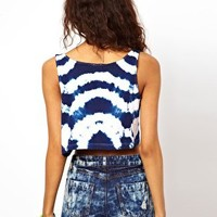 ASOS Swing Vest in Tie Dye at asos.com