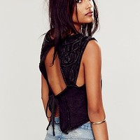Free People Womens Free World Tie Back Top