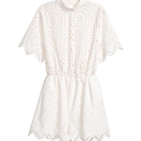 Eyelet Embroidery Jumpsuit - from H&M